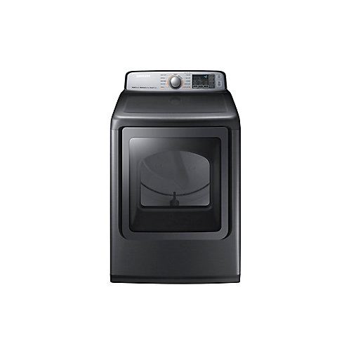7.4 cu. ft. Front Load Electric Dryer with Steam in Platinum