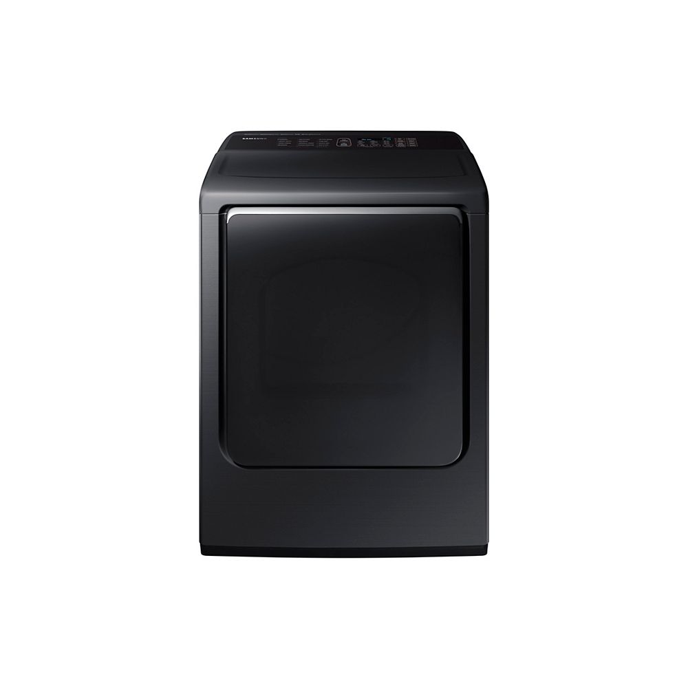 Samsung 7.4 cu. ft. Front Load Electric Dryer with Steam in Black Stainless Steel - ENERGY STAR®