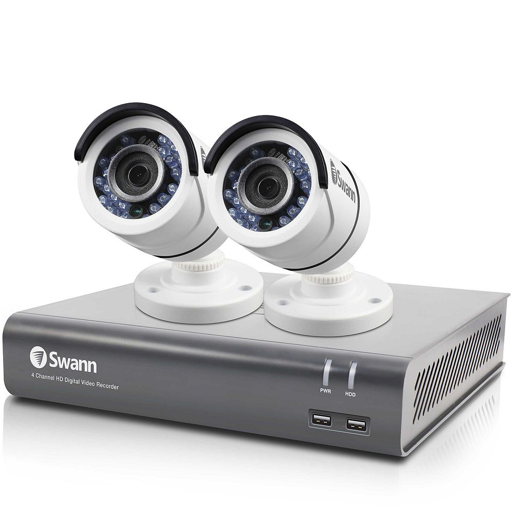 Swann Security System 4 Channel 1080p HD Digital Video Recorder & 2 x PRO-T853 Cameras
