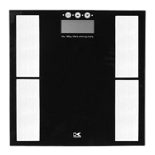 Black Electronic Scale with Body Fat Analyzer
