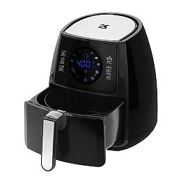Digital Airfryer with Dual Layer Rack in Black