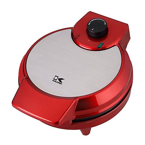 Heart Shape Waffle Maker in Metallic Red