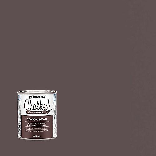 Peinture ultra-mate à la craie dans des fèves de cacao, 887 mL