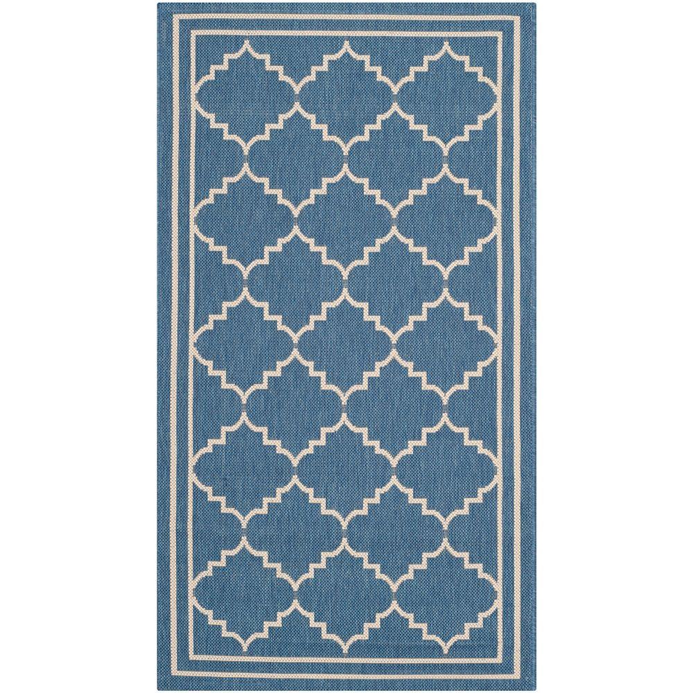 Safavieh Courtyard Blue 2 ft. 7-inch x 5 ft. Indoor/Outdoor Rectangular Area Rug - CY6889-243-3