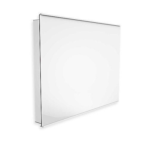 Convecteur devant en verre blanc (uniwatt) 1000W- 240V avec thermostat électronique intégré