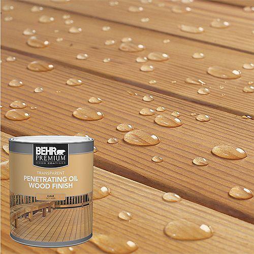 PREMIUM Transparent Penetrating Oil Wood Finish - Clear No. 4000, 946 mL