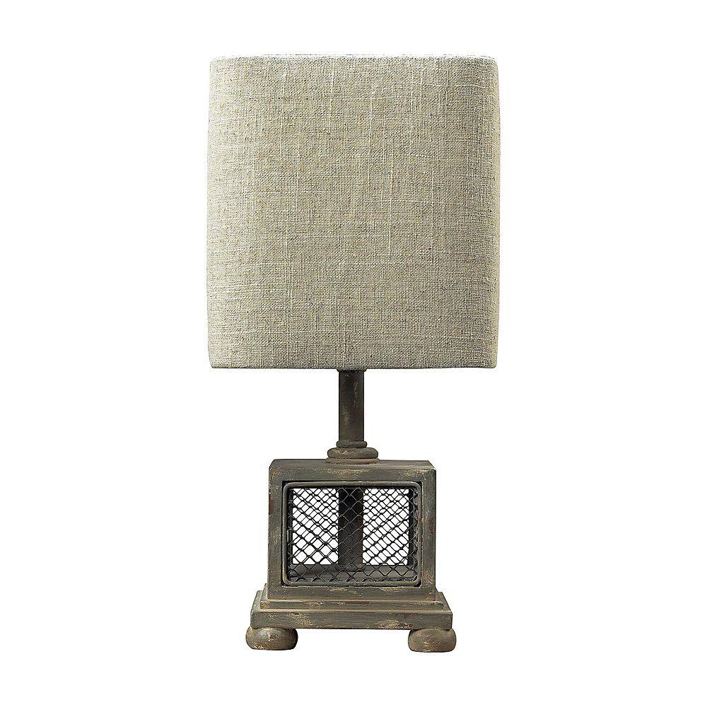 Titan Lighting Delambre Mini Table Lamp in Montauk Grey