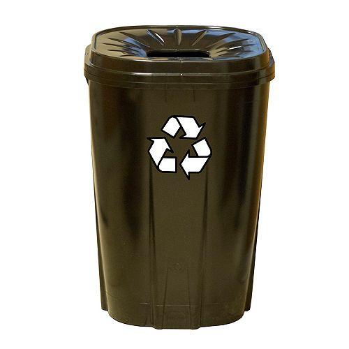 55 gal.Recycling bin noir