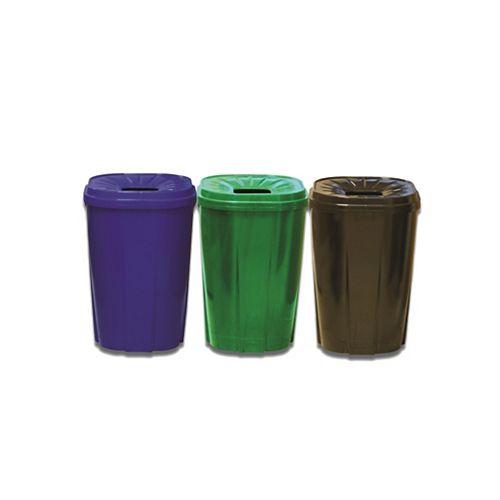 55 gal.Recycling bin vert