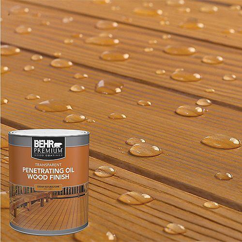 PREMIUM Transparent Penetrating Oil Wood Finish - Cedar Naturaltone No. 4001, 946 mL