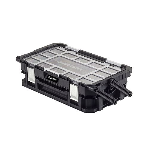 Husky 22-inch 22-Compartment Connect Cantilever Organizer for Small Parts Organizer