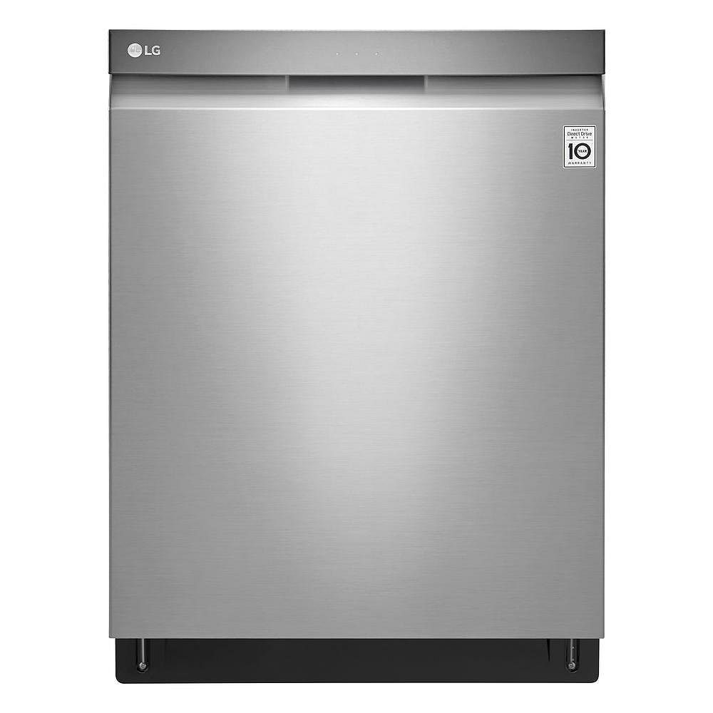 LG Electronics 24-inch Top Control Dishwasher with Pocket Handle and EasyRack in Stainless Steel - ENERGY STAR®