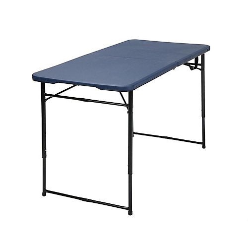Dark Blue Adjustable Folding Indoor/Outdoor Table
