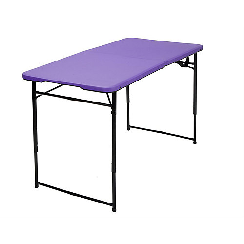 Purple Adjustable Folding Indoor/Outdoor Table