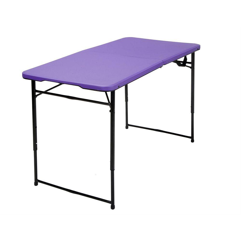 Cosco Table pliante 4' Cosco, Violet