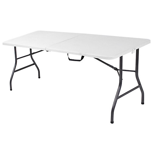 6 Feet Folding Table, White