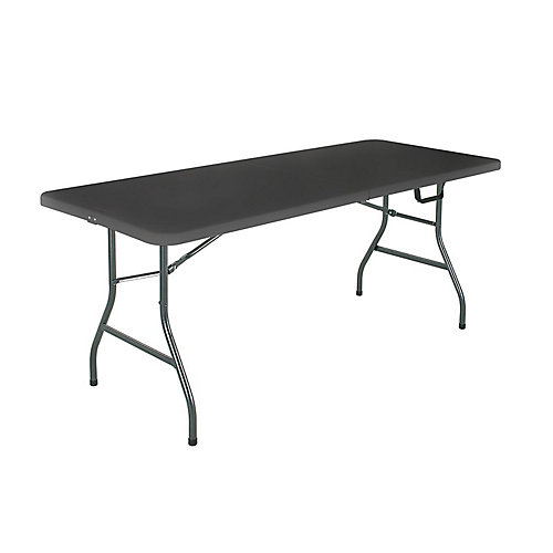 6 Feet Folding Table, Noir