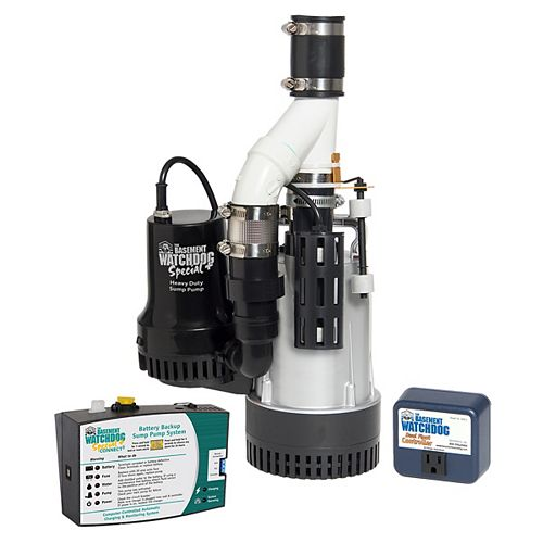 1/2 HP Big Combination Sump Pump System with Special Backup Sump Pump System