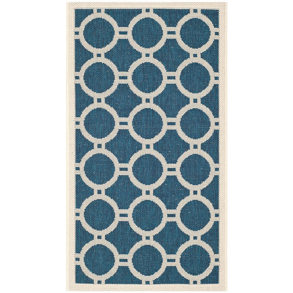 Safavieh Courtyard Blue 2 ft. 7-inch x 5 ft. Indoor/Outdoor Rectangular Area Rug - CY6924-268-3