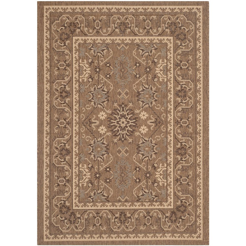 Safavieh Courtyard Regis Brown / Cream 5 ft. 3 inch x 7 ft. 7 inch Indoor/Outdoor Area Rug