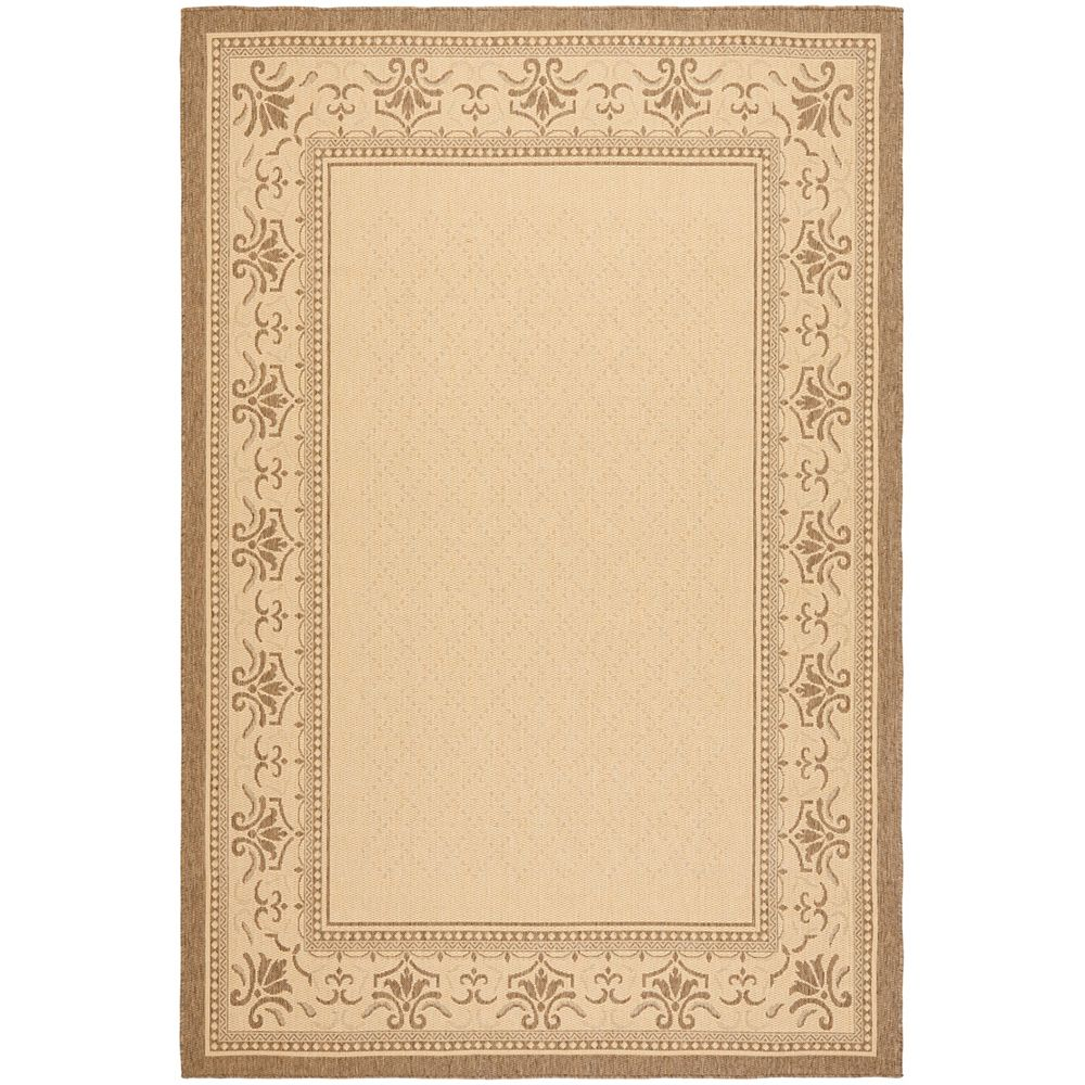 Safavieh Courtyard Kelly Natural / Brown 6 ft. 6 inch x 9 ft. 6 inch Indoor/Outdoor Area Rug