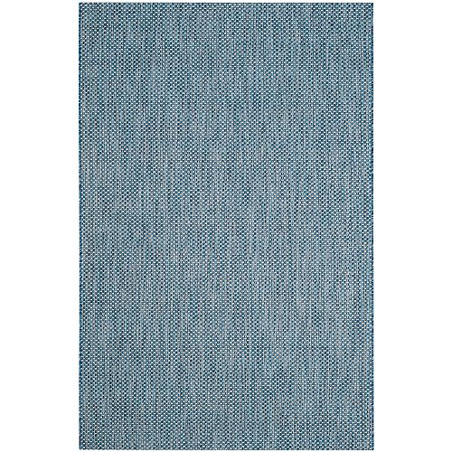 Courtyard Blue 5 ft. 3-inch x 7 ft. 7-inch Indoor/Outdoor Rectangular Area Rug - CY8521-36821-5