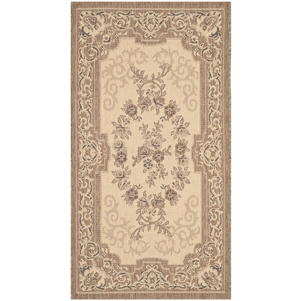 Safavieh Courtyard Joe Cream / Brown 2 ft. 7 inch x 5 ft. Indoor/Outdoor Area Rug