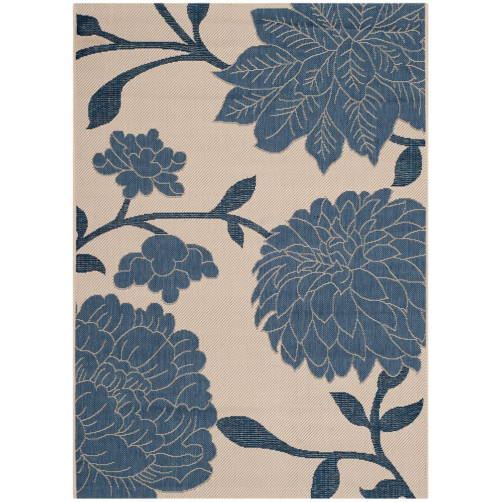 Safavieh Courtyard Blue 2 ft. 7-inch x 5 ft. Indoor/Outdoor Rectangular Area Rug - CY7321-233A25-3