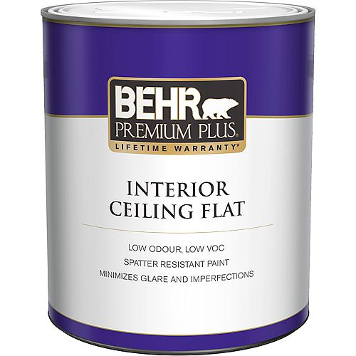 Interior Flat Ceiling Paint - Ultra Pure White, 946 mL