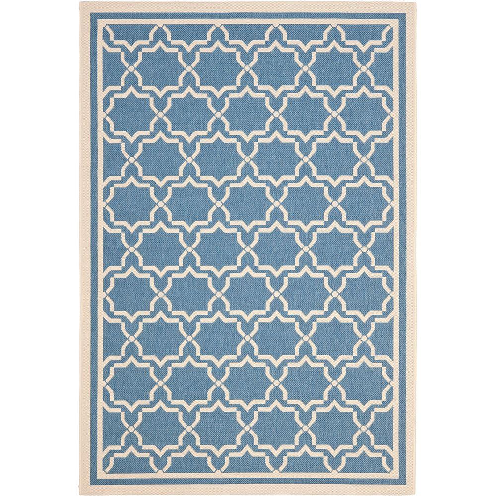 Safavieh Courtyard Blue 5 ft. 3-inch x 7 ft. 7-inch Indoor/Outdoor Rectangular Area Rug - CY6916-243-5