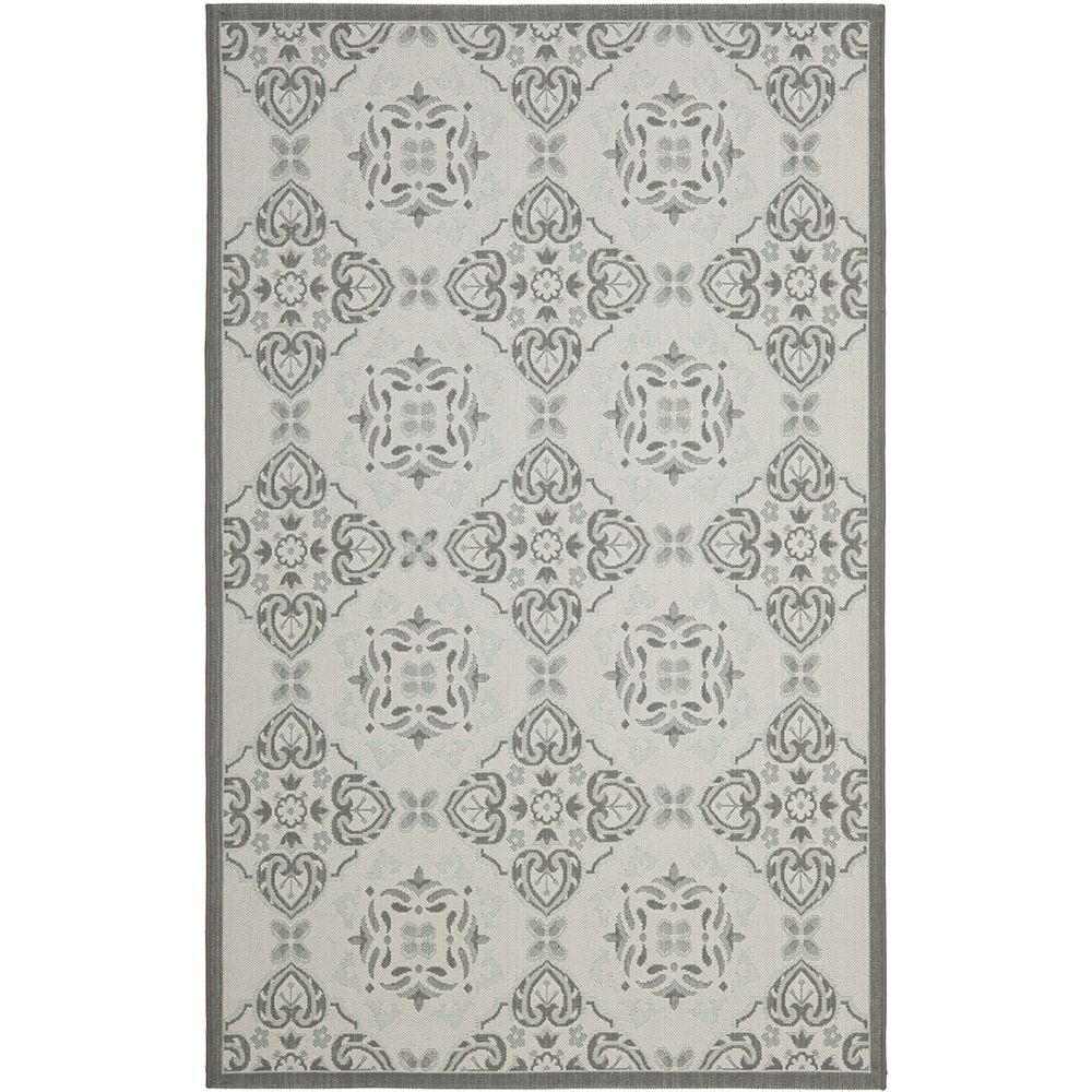 Safavieh Courtyard Lucius Anthracite / Light Grey 5 ft. 3 inch x 7 ft. 7 inch Indoor/Outdoor Area Rug