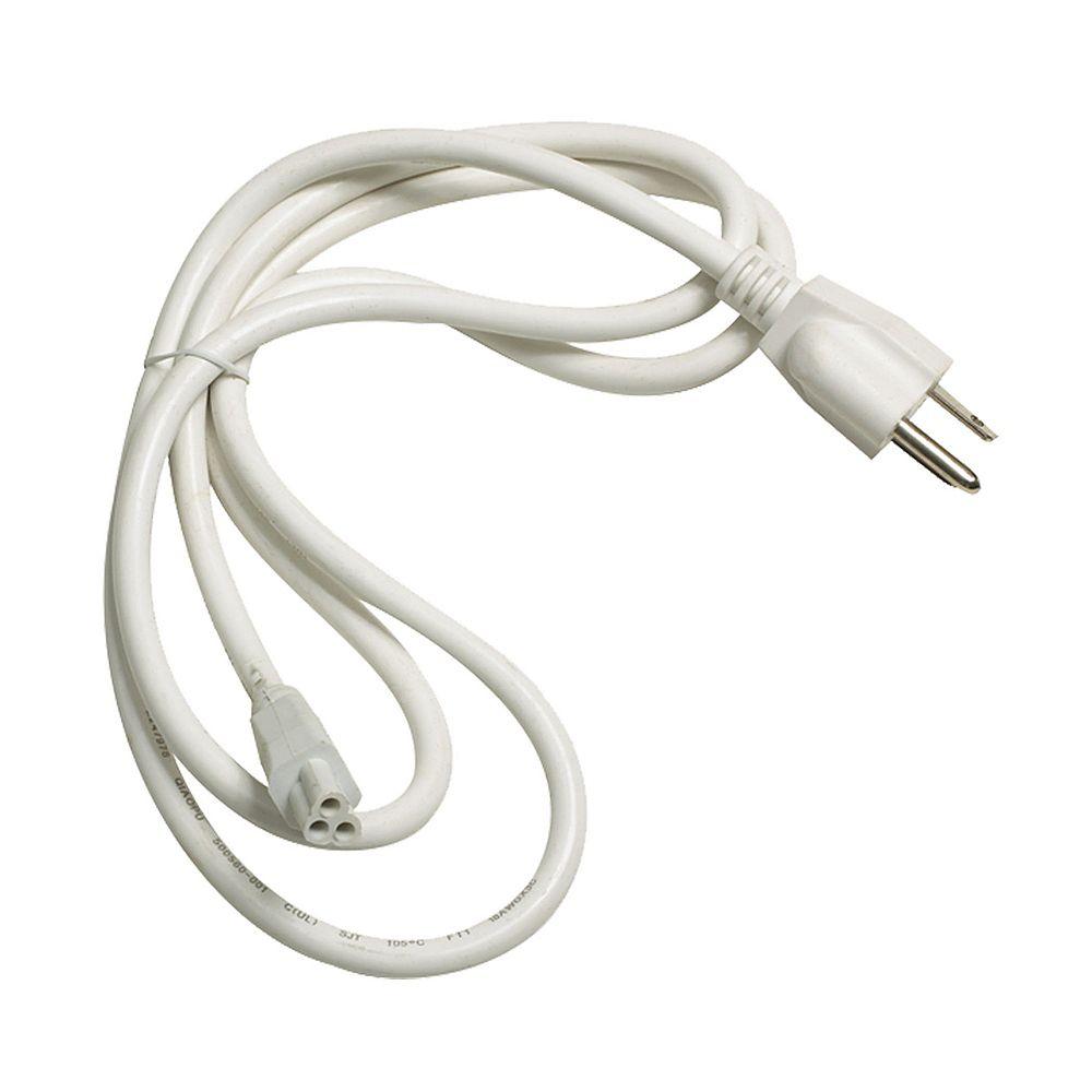 Titan Lighting Zeestick Cord And Plug In White