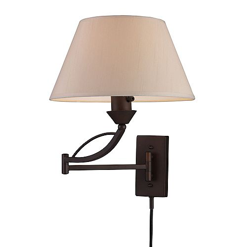 Elysburg 1-Light Aged Bronze Swing Arm Wall-Mount