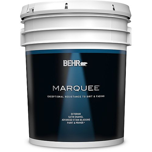 Behr Marquee Exterior Paint & Primer in One, Satin Enamel- Deep Base, 18.9 L