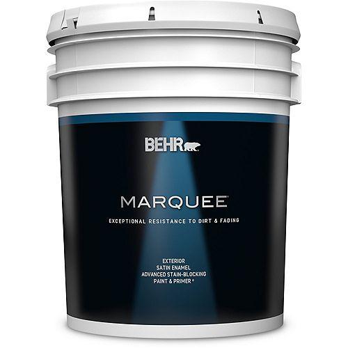 Behr Marquee Peinture & apprêt en un - Extérieur émail satiné - Base foncée, 18,9 L