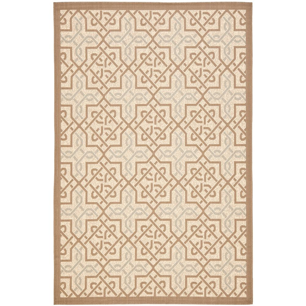 Safavieh Courtyard Marie Dark Beige / Beige 6 ft. 7 inch x 9 ft. 6 inch Indoor/Outdoor Area Rug