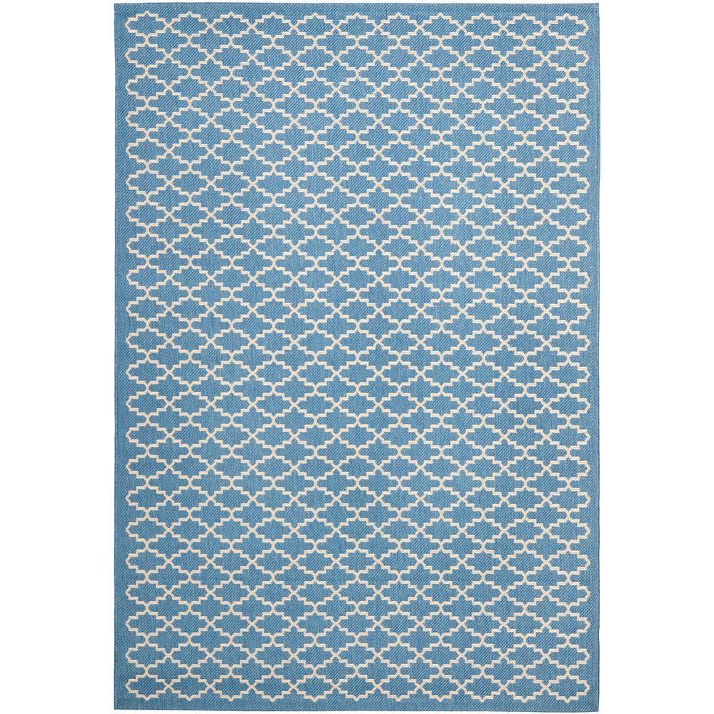 Safavieh Courtyard Blue 5 ft. 3-inch x 7 ft. 7-inch Indoor/Outdoor Rectangular Area Rug - CY6919-243-5