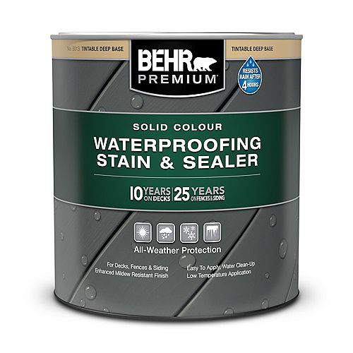 Solid Colour Weatherproofing Stain & Sealer - Deep Base No. 5013, 946 mL