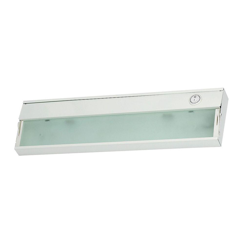Titan Lighting ZeeLite 1 Lamp Cabinet Light In White And Diffused Glass