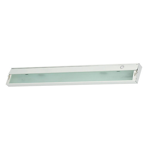 Zeeline 4 Lamp Xenon Cabinet Light In White With Diffused Glass