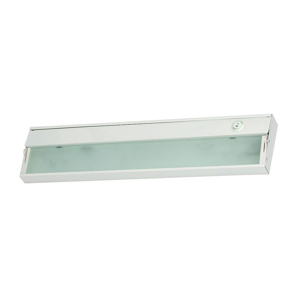 Titan Lighting ZeeLite 2 Lamp LED Cabinet Light In White With Diffused Glass