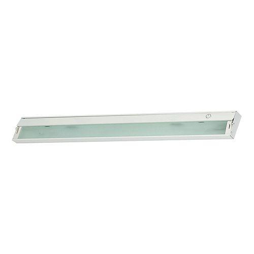 Luminaire darmoire à 6ampoules ZeeLite au fini blanc avec verre diffuseur