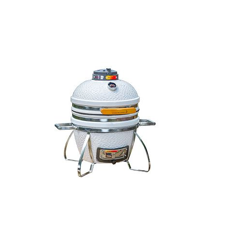 Cadet Kamado Charcoal BBQ in White