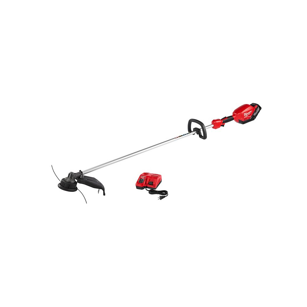 Milwaukee Tool M18 FUEL 18-Volt Lithium-ion Brushless Cordless String Trimmer Kit W/ 9.0Ah Battery & Rapid Charger