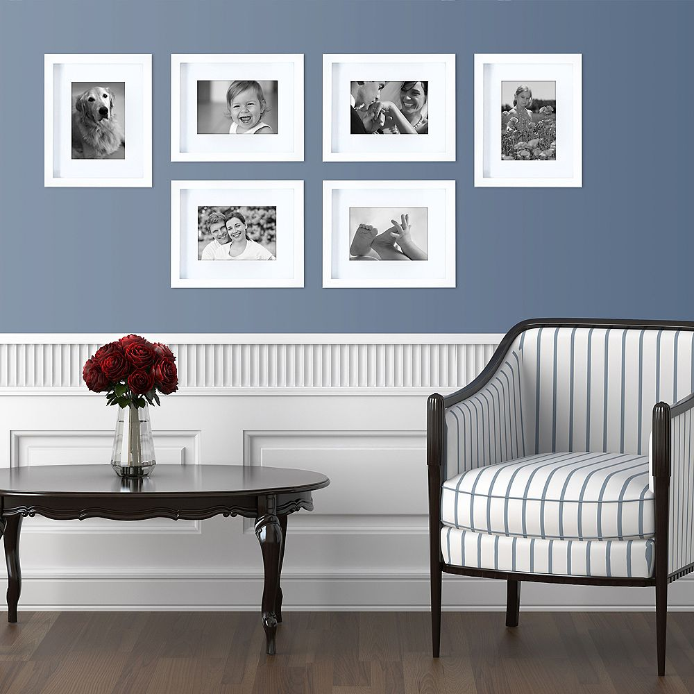 Kiera Grace Gallery 8x10 Inch Matted To 5x7 Inch Frame - White (6-Pack)