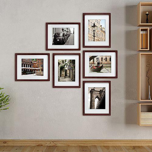 Galerie Package 6- 11 po x 14 po emmêlés pour 8 x 10 po cadre- Expresso