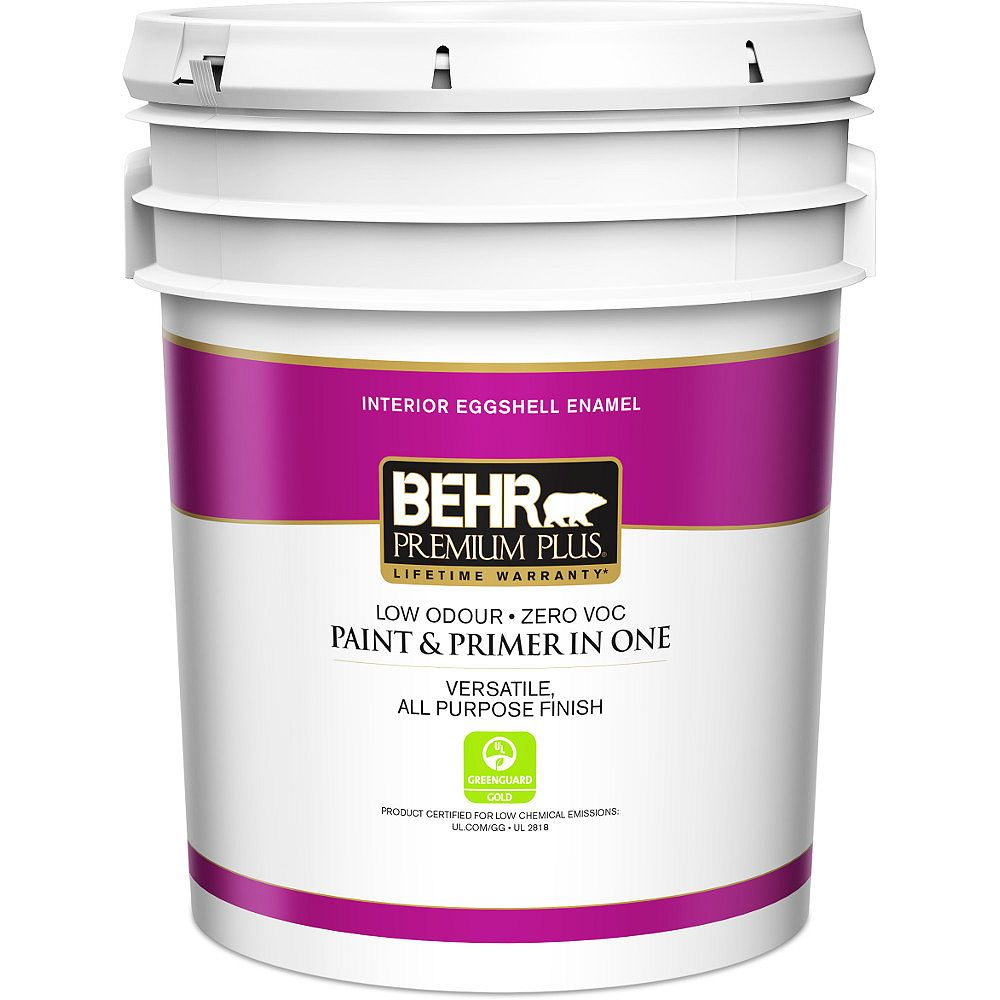 Behr Premium Plus Interior Paint & Primer in One, Eggshell Enamel - Deep Base, 18.9 L