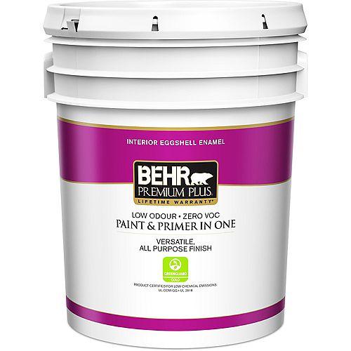 Behr Premium Plus Interior Paint & Primer in One, Eggshell Enamel - Deep Base, 18.9 L