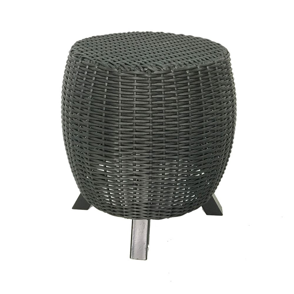Grapevine Table/tabouret/support pour plante Lisa de Grapevine en osier, noir mat