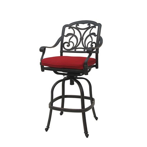 Ophelia Patio Bar Stool with Cushion